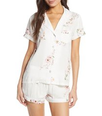 women's plum pretty sugar classic short pajamas, size x-large - white