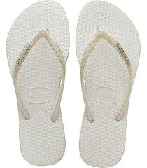 sandalias chanclas havaianas para hombre blanco slim sparkle