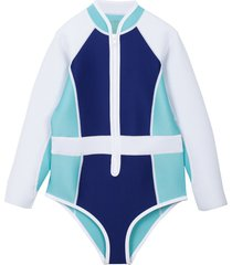 duskii girl darcy long sleeve swimsuit - multicolour
