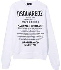 dsquared2 white sweatshirt teen