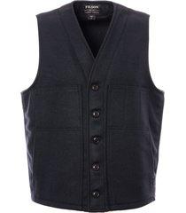 filson mackinaw wool vest - navy 11010055