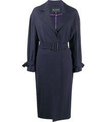 etro wrap style coat - blue
