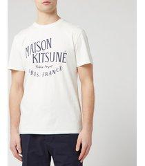 maison kitsune men's palais royal t-shirt - latte - xl