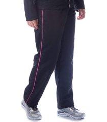 calça tactel butu biru microfibra filete preto/rosa
