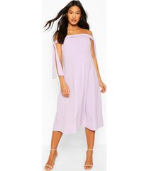 maternity tie side bradot skater dress, lilac