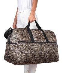 maleta xl plegable estampado animal print citybags multicolor