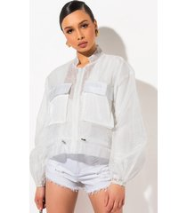akira avoid you sheer zip front sweatshirt