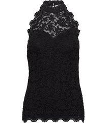top blouse mouwloos zwart rosemunde