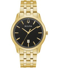 bulova men's classic sutton gold-tone stainless steel bracelet watch 40mm