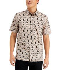 hugo men's bamboo-inspired logo print shirt, created for macy's