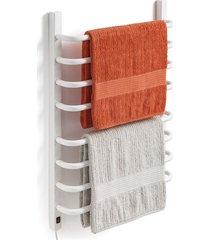 toalheiro térmico 110v para 2 toalhas fio lado esquerdo branco