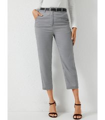 pantalones de cintura alta con bolsillos laterales yoins