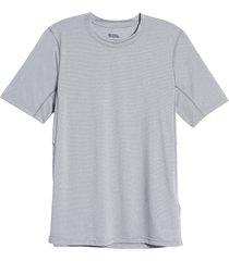 men's fjallraven abisko day hike men's short sleeve t-shirt, size medium - grey