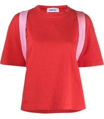 ambush two-tone t-shirt - red