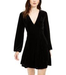 19 cooper long-sleeve velvet-stripe dress