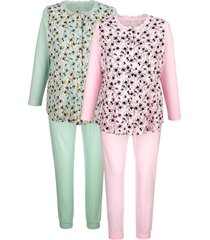 pyjama's per 2 stuks harmony lichtgroen::roze