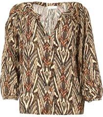 blouse met print joel  beige