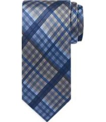 awearness kenneth cole blue & gray plaid narrow tie