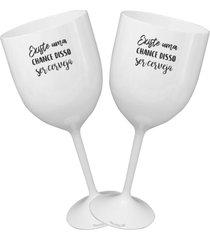2 taã§as vinho branca personalizada para live - branco - dafiti