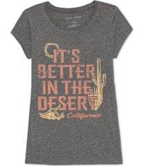 love tribe juniors' better in the desert graphic t-shirt