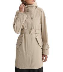 woolrich women's fayette belted trench coat - black - size m