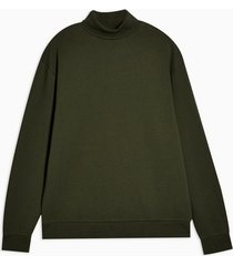 mens khaki roll neck t-shirt