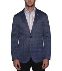 tailorbyrd men's stretch knit glen plaid sport coat
