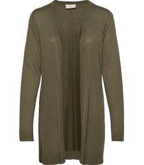elina-l-car stickad tröja cardigan grön free/quent