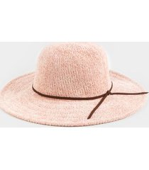 farrah knotted band floppy hat - blush