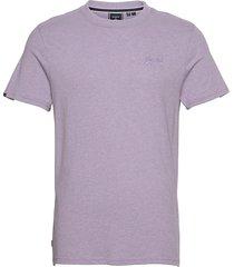 vintage logo emb tee t-shirts short-sleeved lila superdry