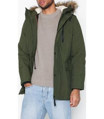 new look traditional parka jackor khaki