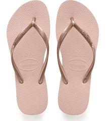 sandalias chanclas havaianas unisex rosa slim