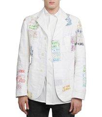 junya watanabe white patchwork jacket