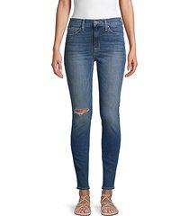 blair distressed high-rise super skinny jeans