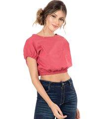 camisa cropped popelin rojo ragged pf11112183