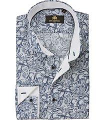 circle of gentlemen overhemd destino navy paisley print slim fit