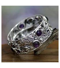 amethyst flower bracelet, 'lilac frangipani' (indonesia)