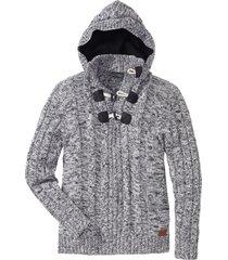 maglione con cappuccio (nero) - rainbow