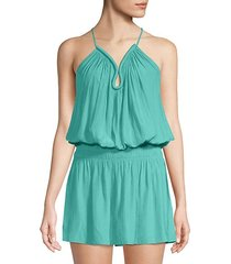 sleeveless blouson dress