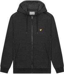 lyle and scott full zip fly fleece hoodie