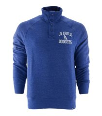 '47 brand los angeles dodgers men's capacity quarter snap pullover