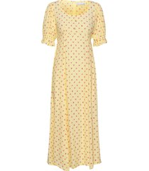 linnie midi dress maxiklänning festklänning gul faithfull the brand