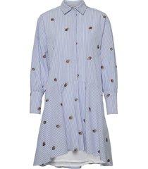 nudahlia dress dresses shirt dresses blå nümph
