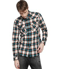 camisa s east long g shirt 87h azul diesel