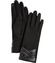 women's pleated cuff jersey touchscreen glove