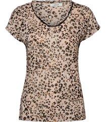 sc-aretha blouses short-sleeved brun soyaconcept