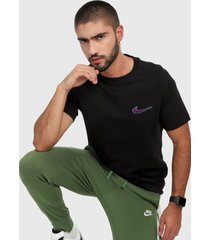 camiseta negro-violeta nike sb tee pkt mini truckin mens