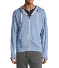 kinetix men's kai zip-up hoodie - blue - size m