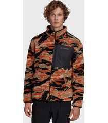 chaqueta reversible adidas outdoor xplr sherpa f multicolor - calce regular