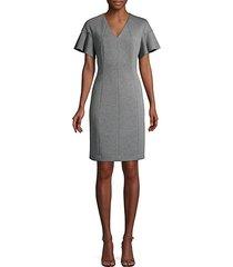 geraldine flutter-sleeve dress
